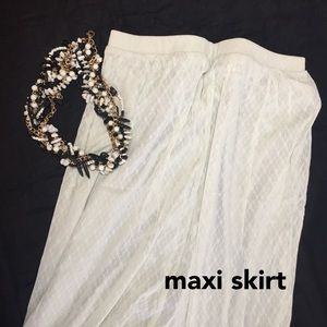 Maxi Skirt with Lace Overlay / Mini Skirt Lining 4